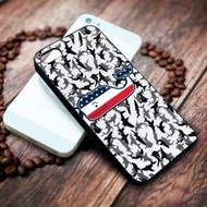 Vineyard Vines American Flag camo shark on your case iphone 4 4s 5 5s 5c 6 6plus 7 case / cases