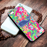vineyard vines whale blue lilly pulitzer on your case iphone 4 4s 5 5s 5c 6 6plus 7 case / cases
