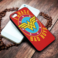 Wonder Woman I Chase Bad Boys Iphone 4 4s 5 5s 5c 6 6plus 7 case / cases