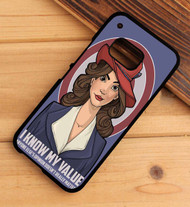 Agent Carter Quote I know my value capt HTC One X M7 M8 M9 Case