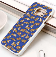 Corgi pattern Samsung Galaxy S3 S4 S5 S6 S7 case / cases