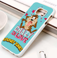 Looney Tunes Taz Crazy in Love Samsung Galaxy S3 S4 S5 S6 S7 case / cases