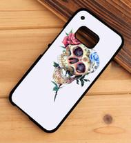 Floral Skull HTC One X M7 M8 M9 Case