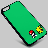 Ash and Pikachu 8 Bit Pokemon on your case iphone 4 4s 5 5s 5c 6 6plus 7 Samsung Galaxy s3 s4 s5 s6 s7 HTC Case