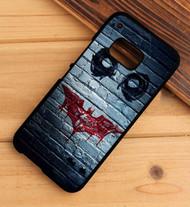 joke face batman logo bansky HTC One X M7 M8 M9 Case