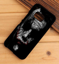 joker face typogravy batman HTC One X M7 M8 M9 Case