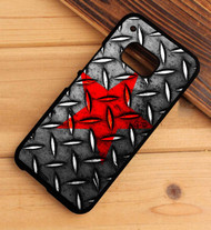 red star on steel HTC One X M7 M8 M9 Case