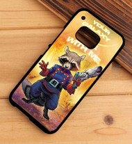 ROCKET RACCOON galaxy of the guardian HTC One X M7 M8 M9 Case