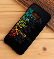 Typography Apple HTC One X M7 M8 M9 Case