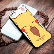 Pikachu Ice Cream Custom on your case iphone 4 4s 5 5s 5c 6 6plus 7 case / cases