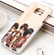 Levi Ackerman Eren Jaeger and Mikasa Attack On Titan Custom Samsung Galaxy S3 S4 S5 S6 S7 Case