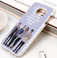 One Direction Drag Me Down Lyrics Custom Samsung Galaxy S3 S4 S5 S6 S7 Case