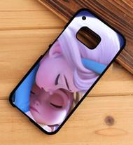 Frozen Little Elsa And Anna Custom HTC One X M7 M8 M9 Case