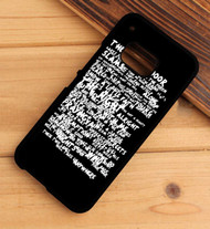 Bruce Springsteen Thunder Road Lyrics Custom HTC One X M7 M8 M9 Case