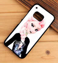 Punk Queen Elsa Custom HTC One X M7 M8 M9 Case