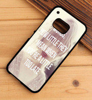 Taylor Swift Sad Beautiful Tragic Lyrics Custom HTC One X M7 M8 M9 Case