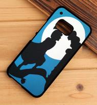 Aladdin and Jasmine Disney Silhouette Custom HTC One X M7 M8 M9 Case