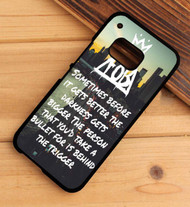 Miss Missing You - Fall Out Boy Lyrics Custom HTC One X M7 M8 M9 Case
