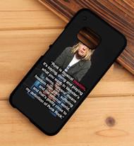 Kurt Cobain Punk Quotes Custom HTC One X M7 M8 M9 Case