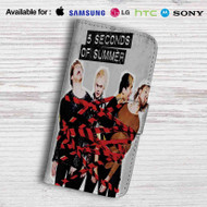 5 Seconds of Summer Leather Wallet iPhone 5 Case