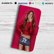 Ariana Grande Red Leather Wallet iPhone 5 Case