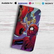 Deadpool Spiderman Leather Wallet iPhone 5 Case