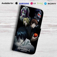 Death Note Characters Leather Wallet iPhone 5 Case