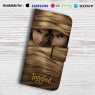 Tangled Rapunzel and Flynn Rider Leather Wallet iPhone 5 Case
