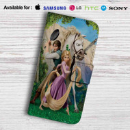 Tangled Rapunzel Flynn and Maximus Leather Wallet iPhone 5 Case