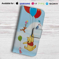 Winnie The Pooh Balloons and Friends Leather Wallet iPhone 5 Case