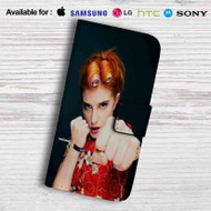 Hayley Williams from Paramore Band Leather Wallet iPhone 5 Case