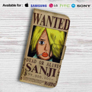 Sanji One Piece Wanted Leather Wallet iPhone 5 Case