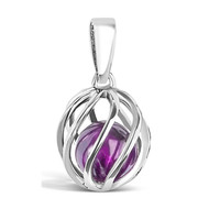 February Birthstone -- Amethyst (twisted)
