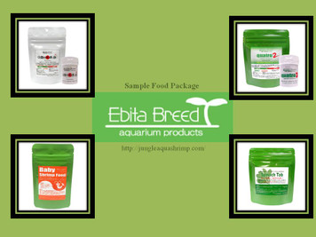 Ebita Breed Sample Food Package