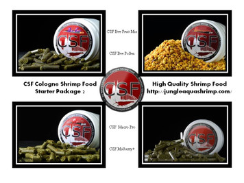 Cologne Shrimp Food CSF Starter Package 2 Shrimp Food
