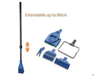 Extendable Aquarium Fish Tank 5 in 1 Cleaning Tool Set