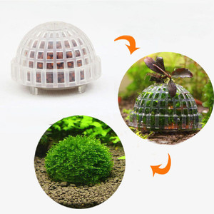 Aquarium Decoration Submerged Moss Ball Base with Filter Material