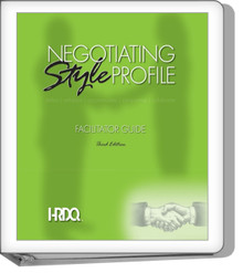 Negotiating Style Profile Facilitator Set