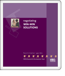 Negotiating Win-Win Solutions - Facilitator Kit
