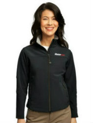 Ladies Glacier Black Soft Shell Jacket