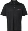 Men's Vansport™ Strata Black Textured Polo (unavailable stock is back ordered until July)