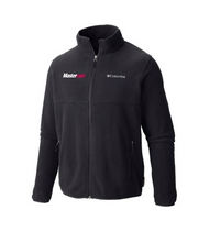 Columbia® Men's Steens Mountain Polar Fleece Full-Zip Charcoal Grey Jacket with RIGHT chest embroidery