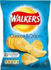Walkers Cheese and Onion Crisps (Case of 32 single-serving bags)
