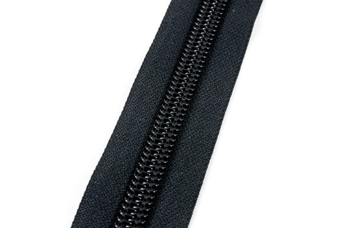 #10CF YKK® Coil Zipper Chain, Black (91100CBK)