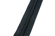 #5CI YKK® Nylon Self-Correcting Coil Zipper Chain, Black (91050CBK)