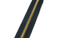#5MGM YKK® Brass Tooth Zipper Chain, Black
