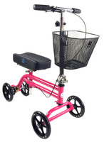 KNEEROVER STEERABLE KNEE SCOOTER IN HOT PINK