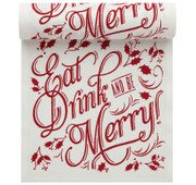 """Eat, Drink & Be Merry"" Linen Printed Luncheon Napkin"