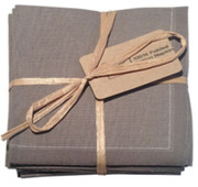 Grey Cotton Folded Napkin