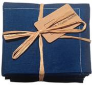 Midnight Blue Cotton Folded Napkin
